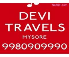 car rental in mysore Karnataka +91 9980909990  / +91 9480642564