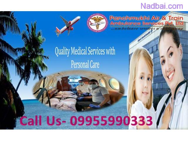 Charter Air and Train Ambulance Cost from Guwahati to Delhi Chennai