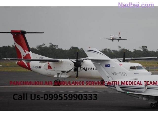 Panchmukhi Air Ambulance Service in Hyderabad to Bed to Bed Patient Transfer