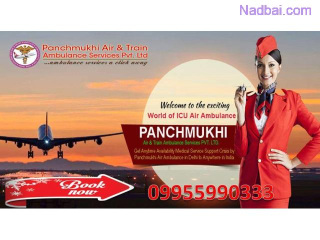 Panchmukhi Air Ambulance Service in Delhi with Medical Care