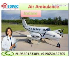 Take Air Ambulance in Indore by Medivic Aviation with Doctor