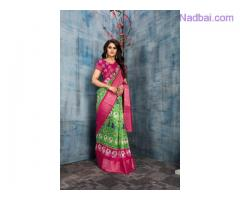 Amazing collection of Pochampally Sarees designs online at Mirraw