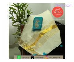 Shop for Kerala Onam Saree Online at Alika