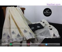 Kerala Saree with Elephant Embroidery