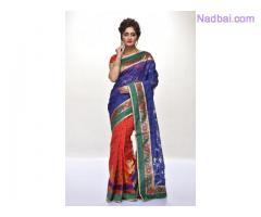 Latest designer silk saree shopping at AdiMohiniMohanKanjilal