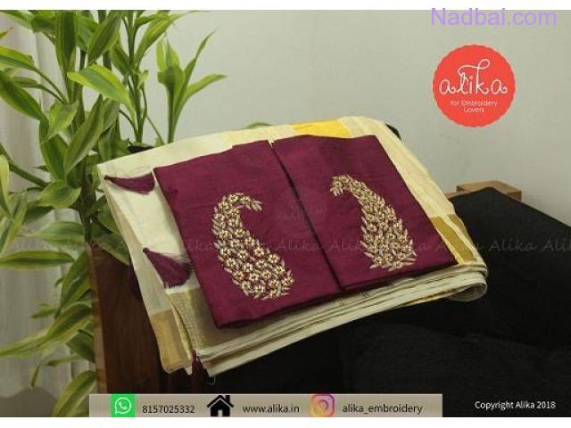 Online Onam Saree Sale Trivandrum