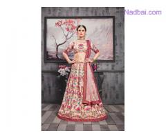 Get up to 40% off on bridal lehengas visit Mirraw
