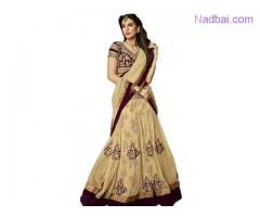 Exclusive collection of Net Lehengas at Mirraw