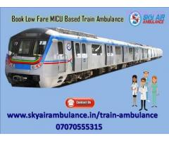 Avail Train Ambulance Service in Allahabad with ICU Facility