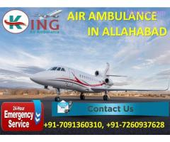 Book Country Based Exigency Air Ambulance Service in Allahabad by King