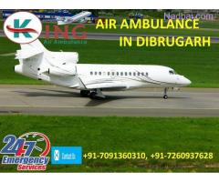 Choose Quickest and Safest Air Ambulance from Dibrugarh by King