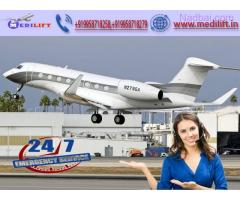 Utilize ICU Facility Air Ambulance Service in Gorakhpur by Medilift
