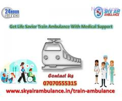 Receive Sky Rail Ambulance Service in Bokaro with emergency facility