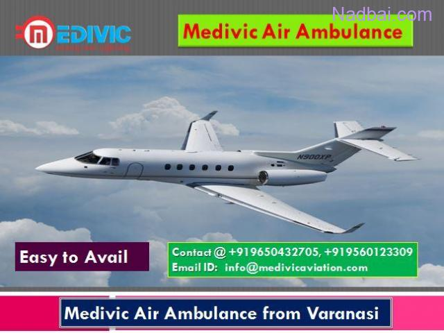 Medivic Air Ambulance from Varanasi-Top Level Service Provider
