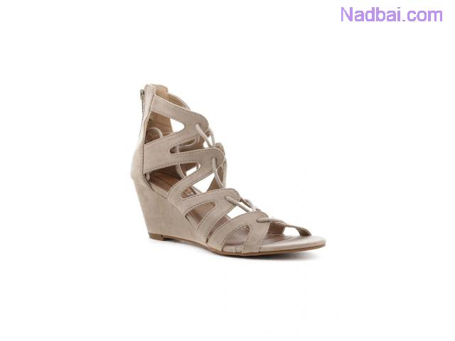 Buy Womens Beige Lace-Up Wedges at London Rag India