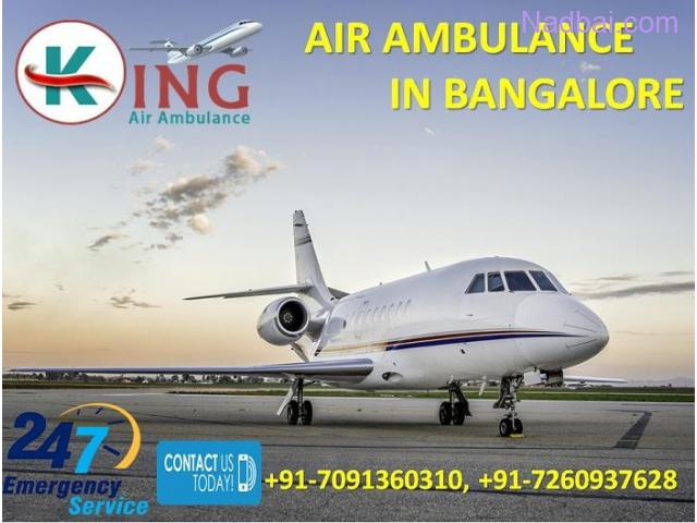 Gain Cost-Effective Perfect ICU Care Air Ambulance from Bangalore by King