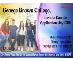 George Brown College, Toronto Canada Application Day  - 20th July'19
