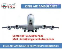 King Air Ambulance Service in Dibrugarh - Instantly Hire